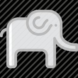 animal, elephant, pet, wild icon