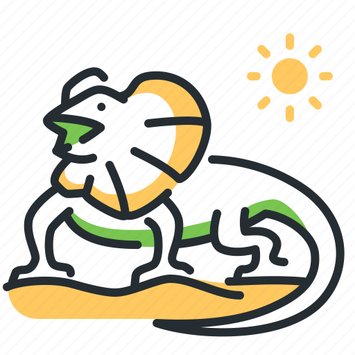 Frilled, lizard, necked icon - Download on Iconfinder