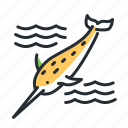 animal, arctic, narwhal, whale icon