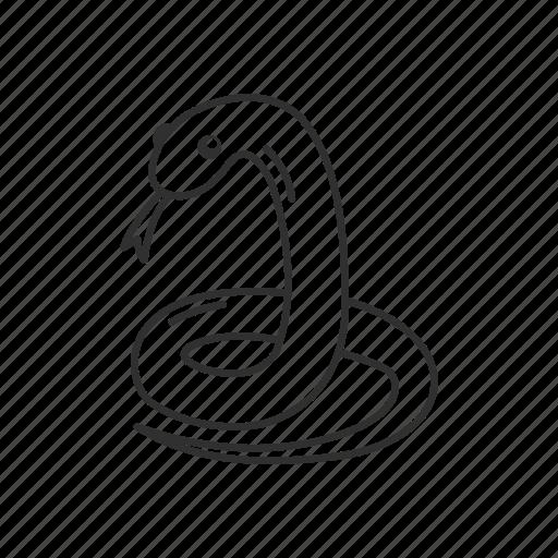 animal, reptile, safari, serpent, snake, wild life icon