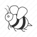 bee, bug, emoji, honey, honeybee, insect, wasp icon