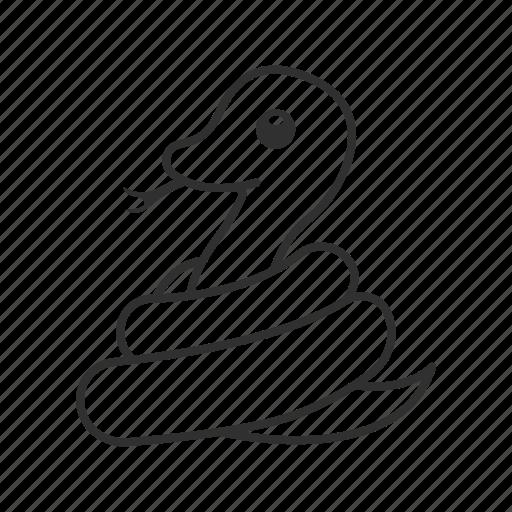 emoji, reptile, reptiles, serpent, snake, venom, venomous icon