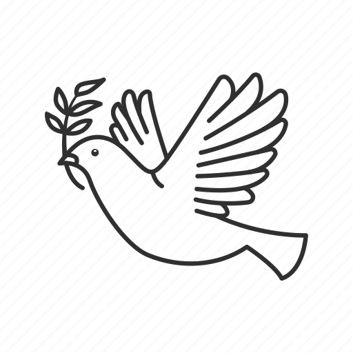 bird, bird with leaves, dove, emoji, freedom, wedding, wings icon