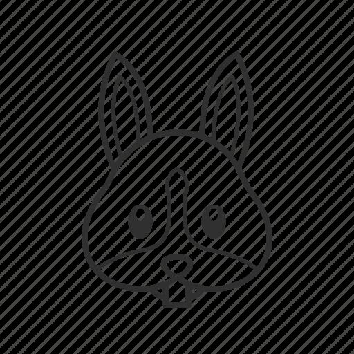 bunny, bunny head, emoji, face, head, rabbit, rabbit face icon