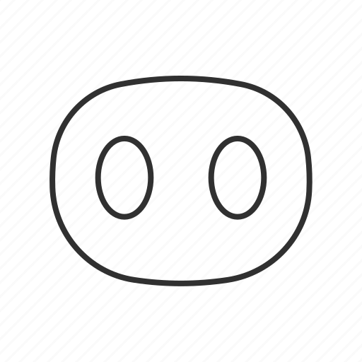 buttons, circles, livestock, meat, pig, pig's nose, pork icon