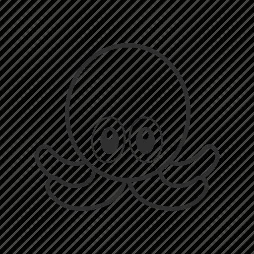 Cute octopus, emoji, mollusc, octopus emoji, octupus, sea ...