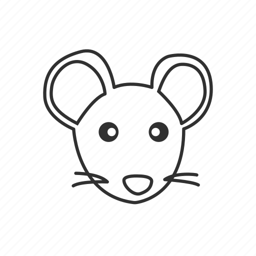 animal, cute mouse, mice, mouse, mouse face, pet icon