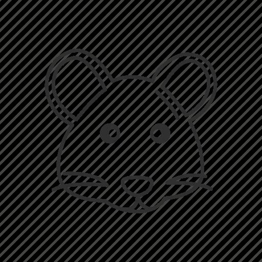 animal, cute rat, pet, rat, rat face, raton, rodent icon