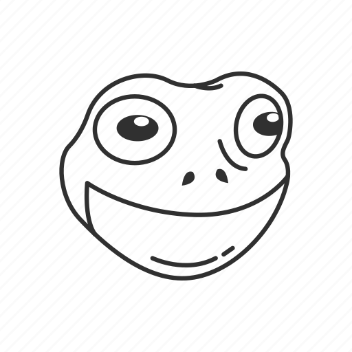 amphibian, animal, cute frog, frog, frog face, froggy, toad icon