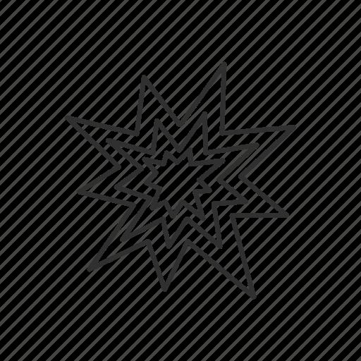 collision, flash, geometry, shine, spark, star icon