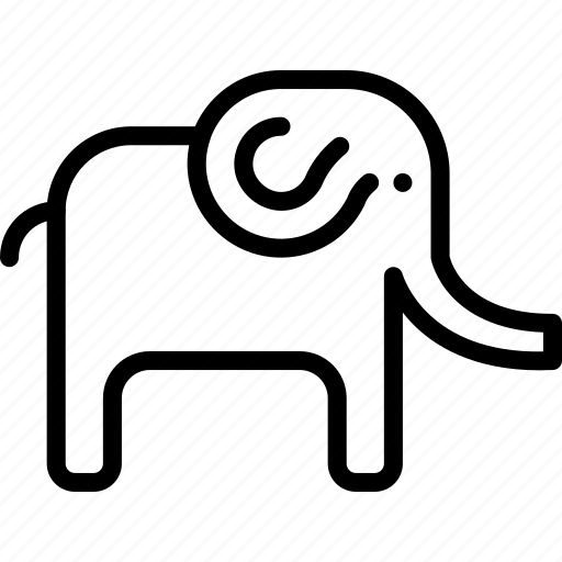 animal, elephant, pet, wild icon
