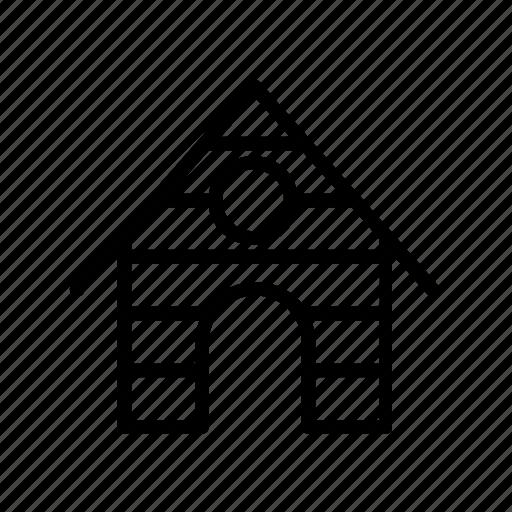 animal, dog, graden, house, pet icon