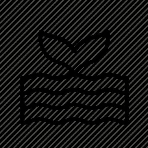 animal, animals, ocean, sea, tail, whale, wildlife icon