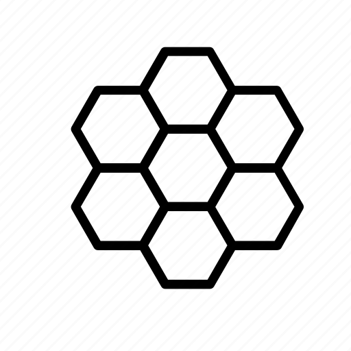animal, bee, beehive, hexagon, insect, pattern icon