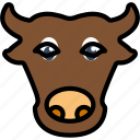 animal, bull, pet, wild icon