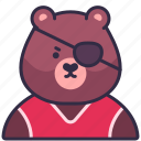 bear, animal, avatar, pet, chef, grizzly, character