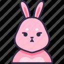 bunny, rabbit, animal, pet, cute, character icon