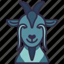 goat, animal, pet, farm, character, avatar icon