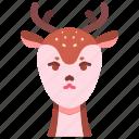 animal, wildlife, deer, horn, creature, character