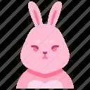 bunny, rabbit, animal, pet, cute, character