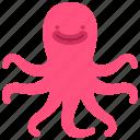 squid, sea, animal, food, multitasking, character icon