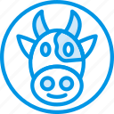 animal, cow, pet, wild icon