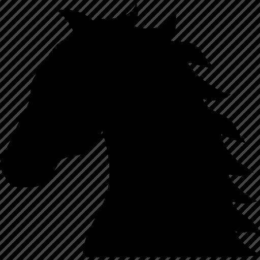 colt, equestrian, equus, horse, mare, pony, stallion icon