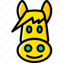 animal, donkey, pet, wild icon
