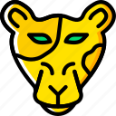 animal, leopard, pet, wild icon