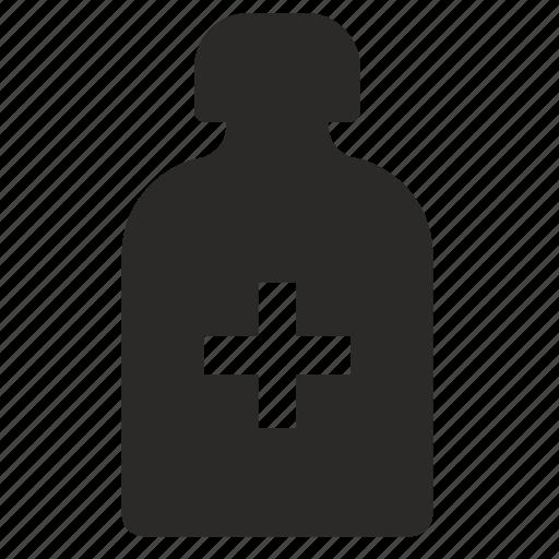 antibiotic, bottle, med, medical, mixture, plus, treatment icon