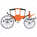 bridal carriage, buggy, carriage ride, medieval carriage, sedan chair icon