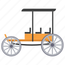 chaise, chariot, fourgon, vintage transport, wagon cart icon