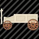 dolly, jinker, steerable jinker, vintage coach, vintage transport icon