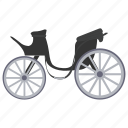 carriage, chariot, cycle cart, cyclekart, tonga icon