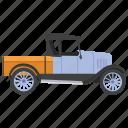 chalet, charabanc, rolls royce, vintage car, vintage cart icon