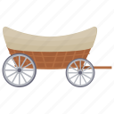 hand cart, horse cart, open carriage, tonga, vintage transport icon