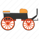 berlin carriage, cart, four wheeled, travel carriage, vintage transport icon