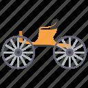 ekka, horse cart, horse driven, horsecar, passenger cart icon