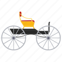 cabrio, cabriolet carriage, horse buggy, horse cart, vintage transport icon