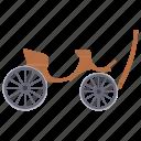 britska, chariot, horse driven, vintage transport, wheeled cart icon