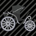 cabrio, cabriolet carriage, horse buggy, horse cart., vintage transport icon