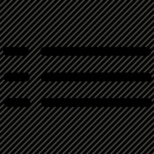 chart, list, menu, option icon