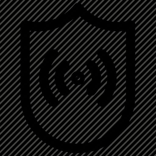 network, scure, shield, signal icon