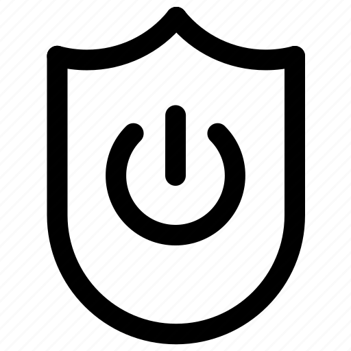 antivirus, scurity, shield, turn on icon
