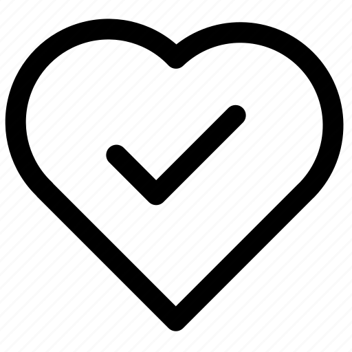 good, heart, normal, save icon