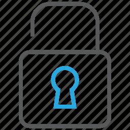 access, granted, lock, padlock, privacy, unlock icon