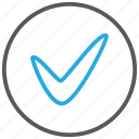 accept, approved, check, checked, done, ok, tick icon