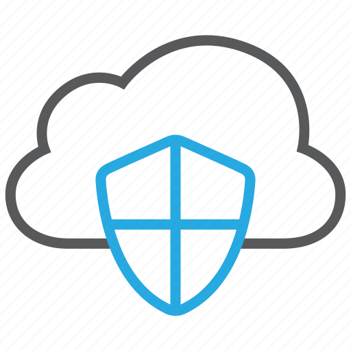 cloud, database, protection, server, shield, storage icon