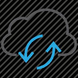 cloud, computing, download, internet, storage, sync, upload icon