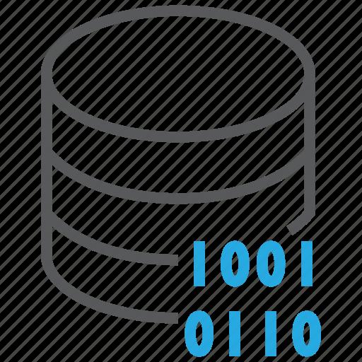bit, byte, code, data, database, encryption, server icon